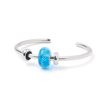 Zomerse bangle - Turquoise zilverspoor - XS