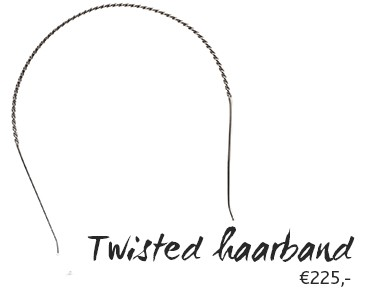Twisted haarband - €225,-